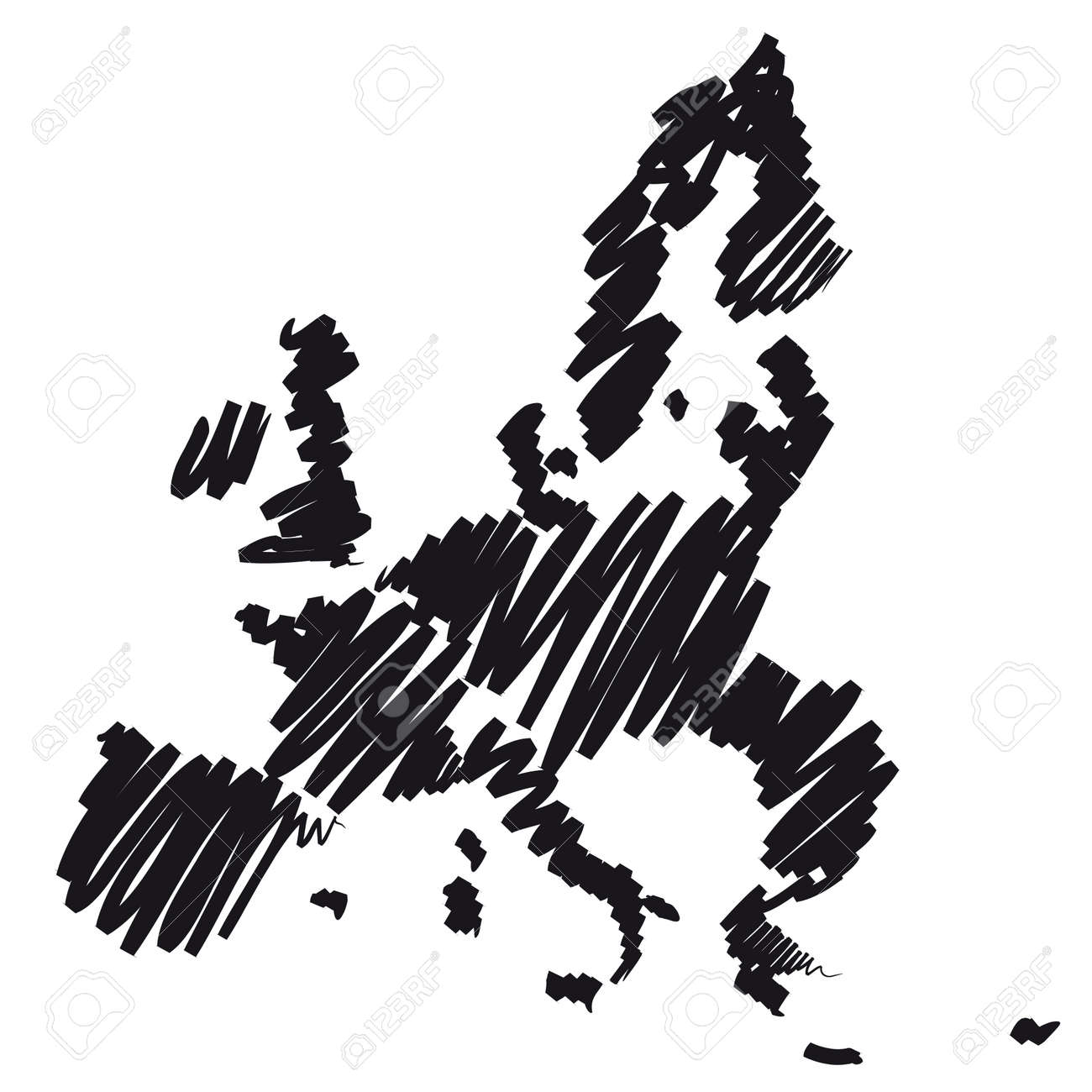 Map sketch Europe Stock Photo - 10619213