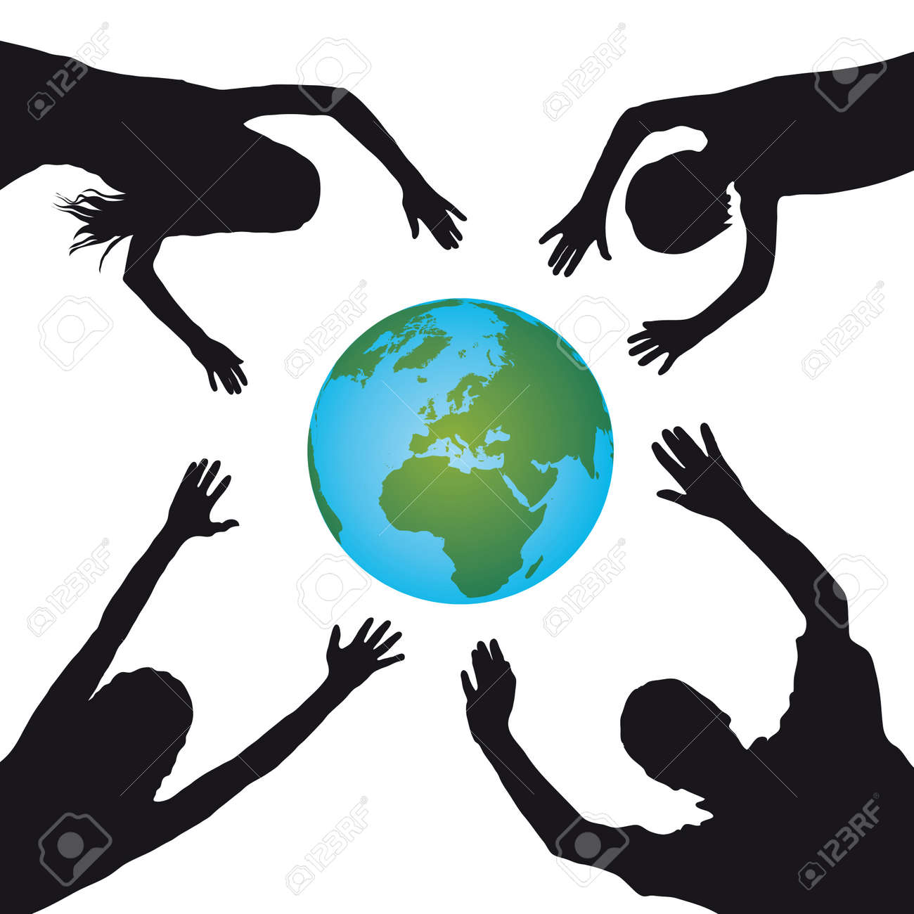 support the world Stock Vector - 10619660