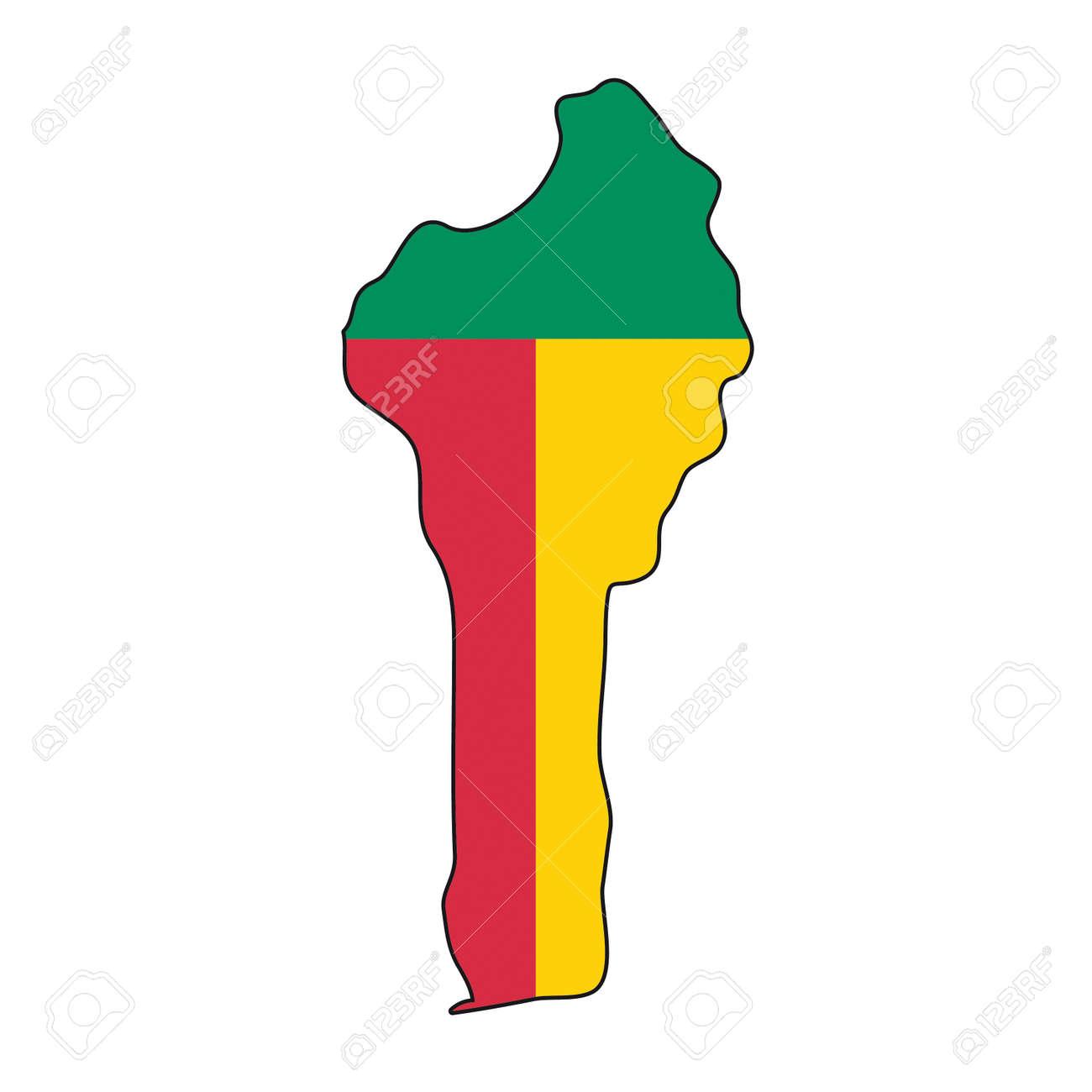 map flag Benin Stock Vector - 10637979