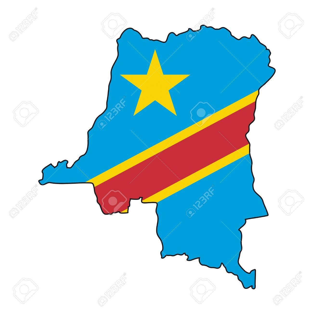 map flag Democratic Republic of the Congo Stock Vector - 10637997