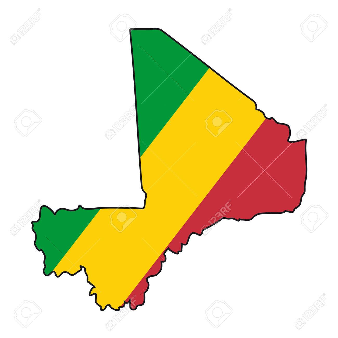 Map Flag Mali Royalty Free Cliparts Vectors And Stock - Mali map