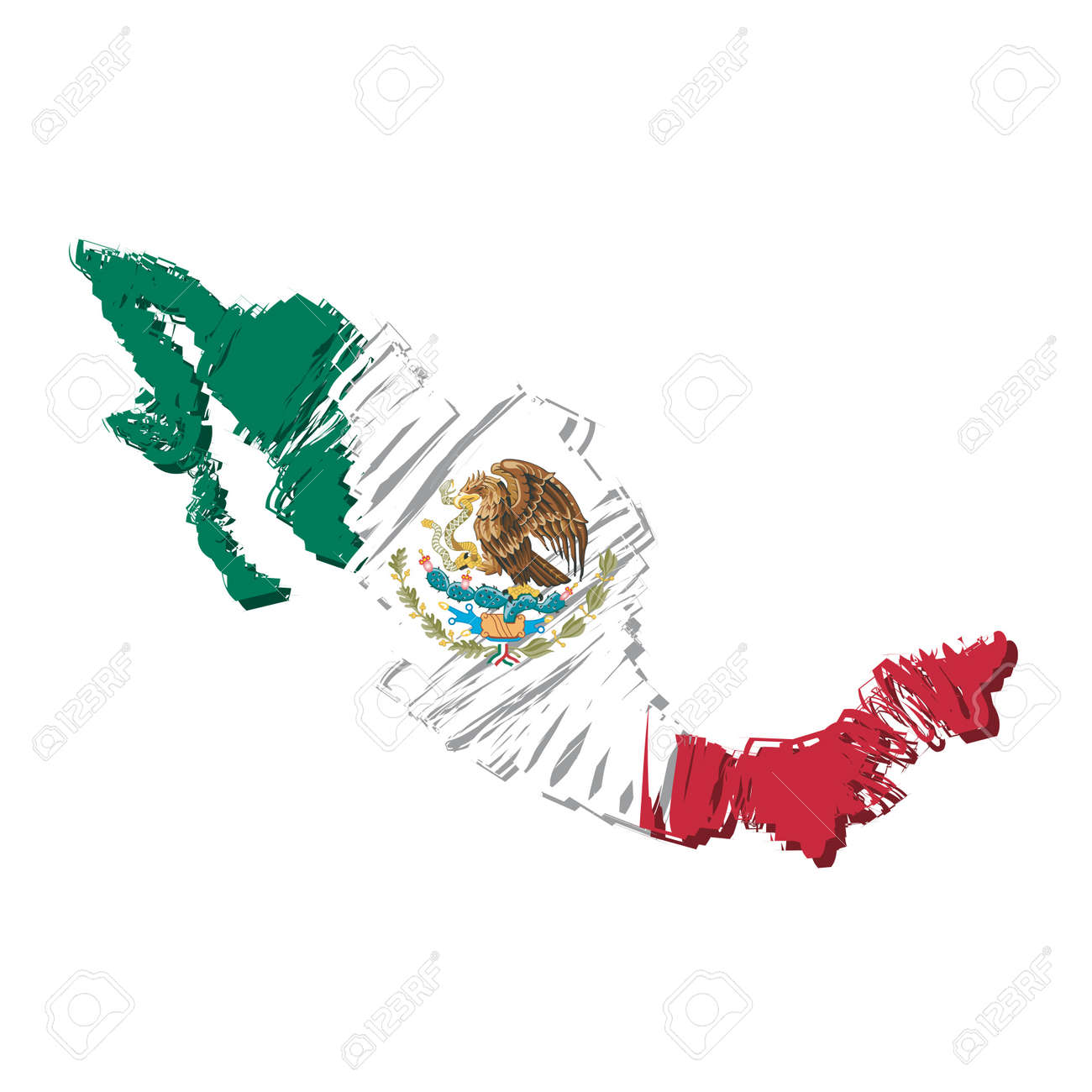 Map Flag Mexico Royalty Free Cliparts Vectors And Stock