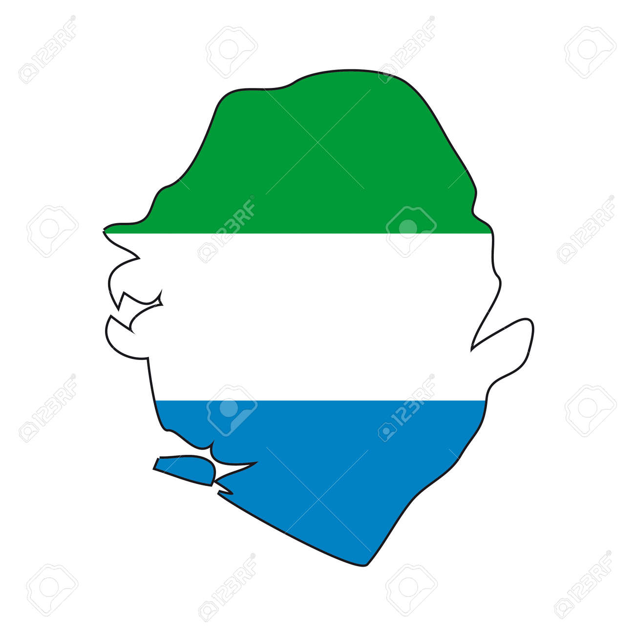 map flag Sierra Leone Stock Vector - 10648663