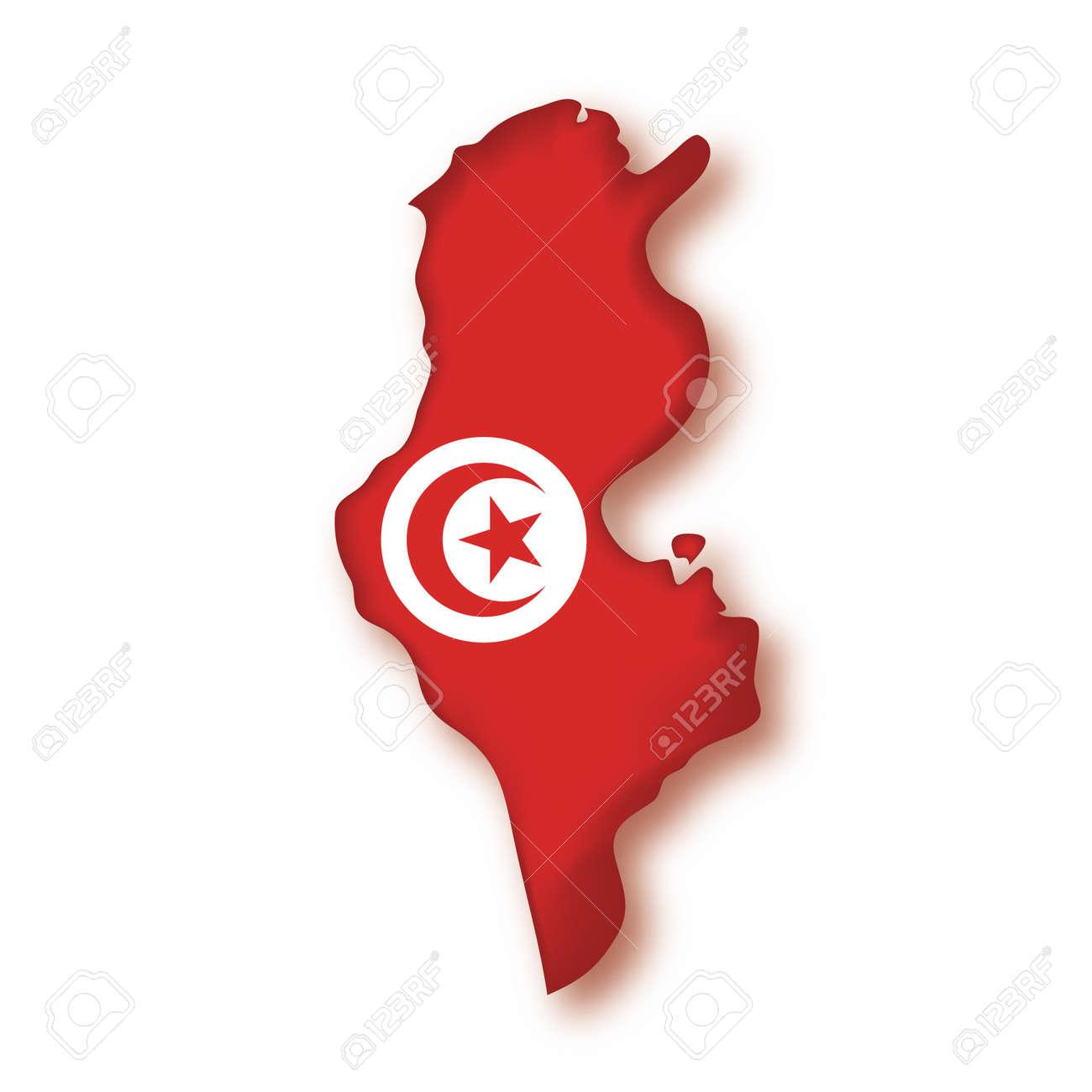 Mapa De La Bandera De Túnez Ilustraciones Vectoriales, Clip Art ...