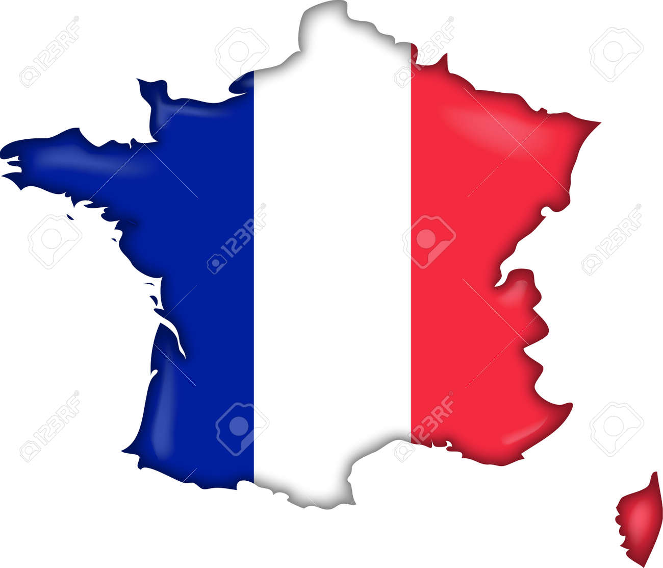France Map Flag.Map Flag France Stock Photo Picture And Royalty Free Image Image