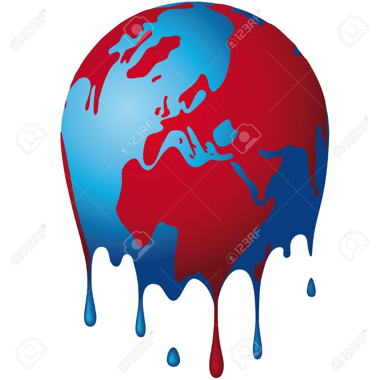 the world dissolves Stock Vector - 10665209
