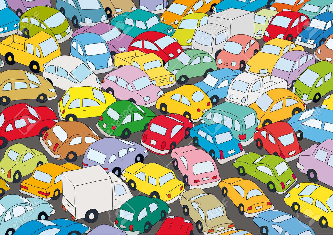 Car traffic jam - 10664883