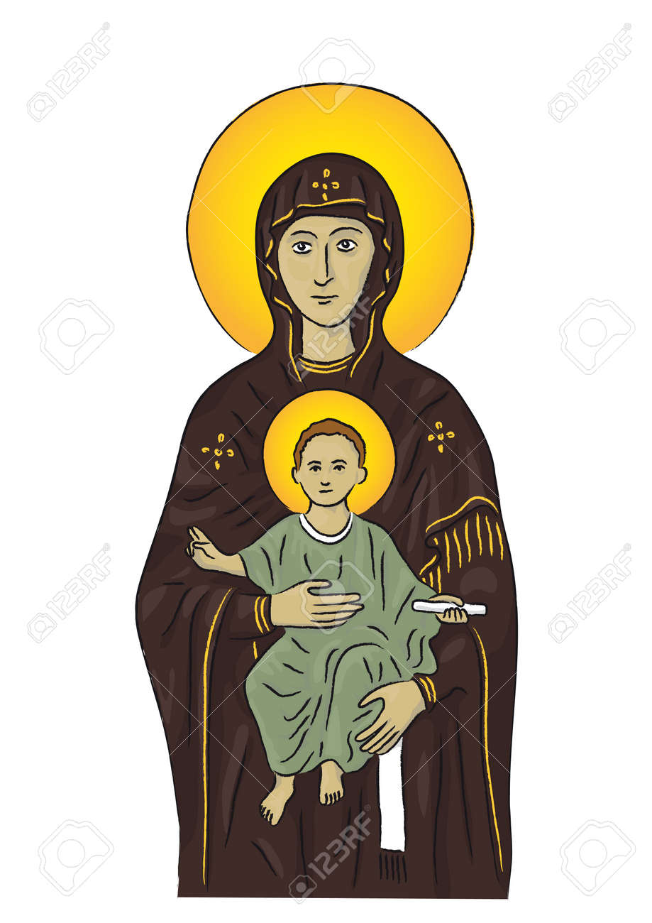 Mary and Jesus Stock Vector - 10664806