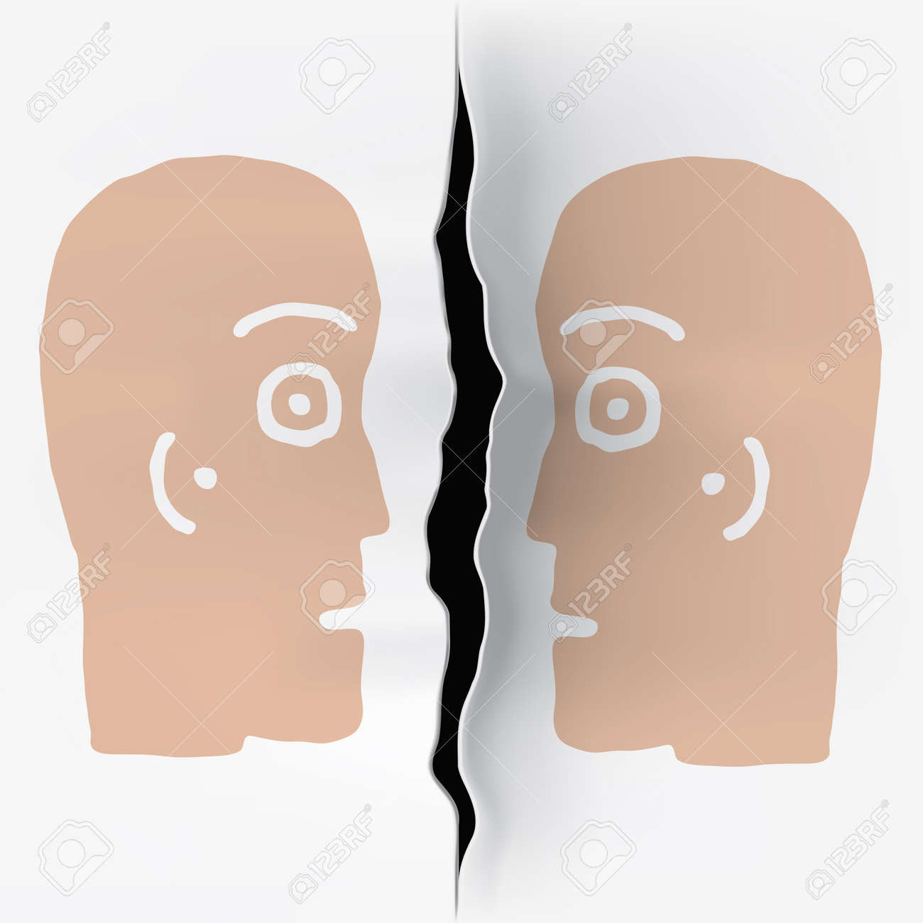 two heads  separated Stock Photo - 10681231