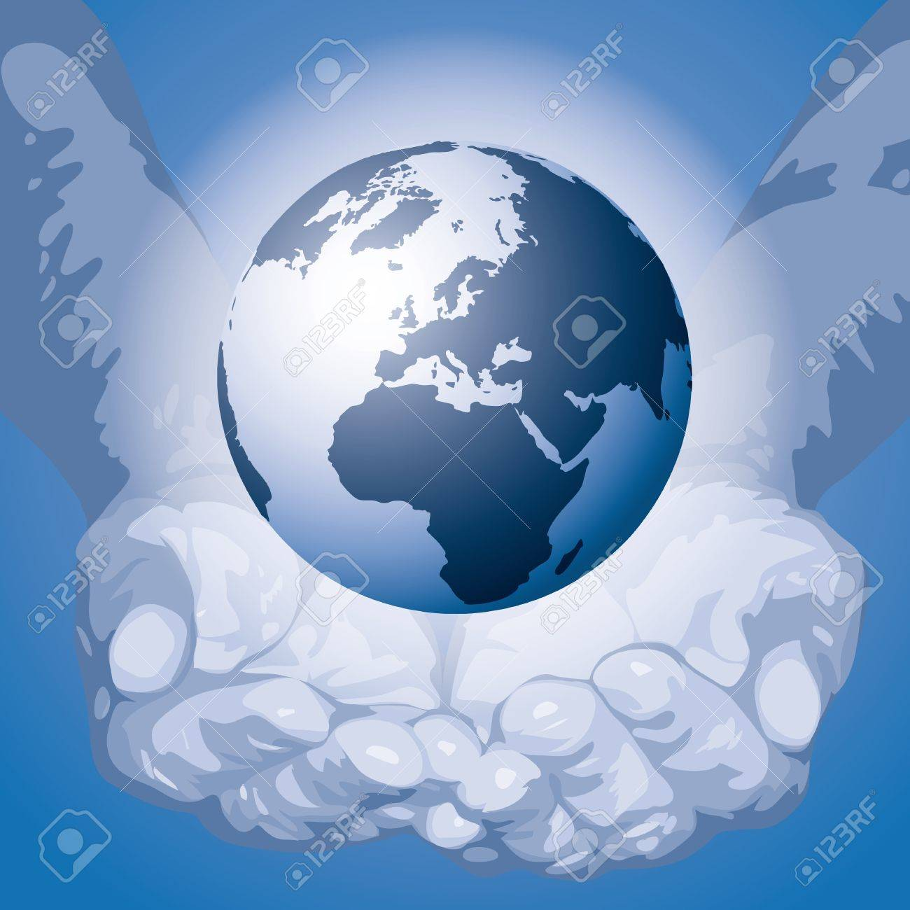 The world in the hands Stock Vector - 10691844