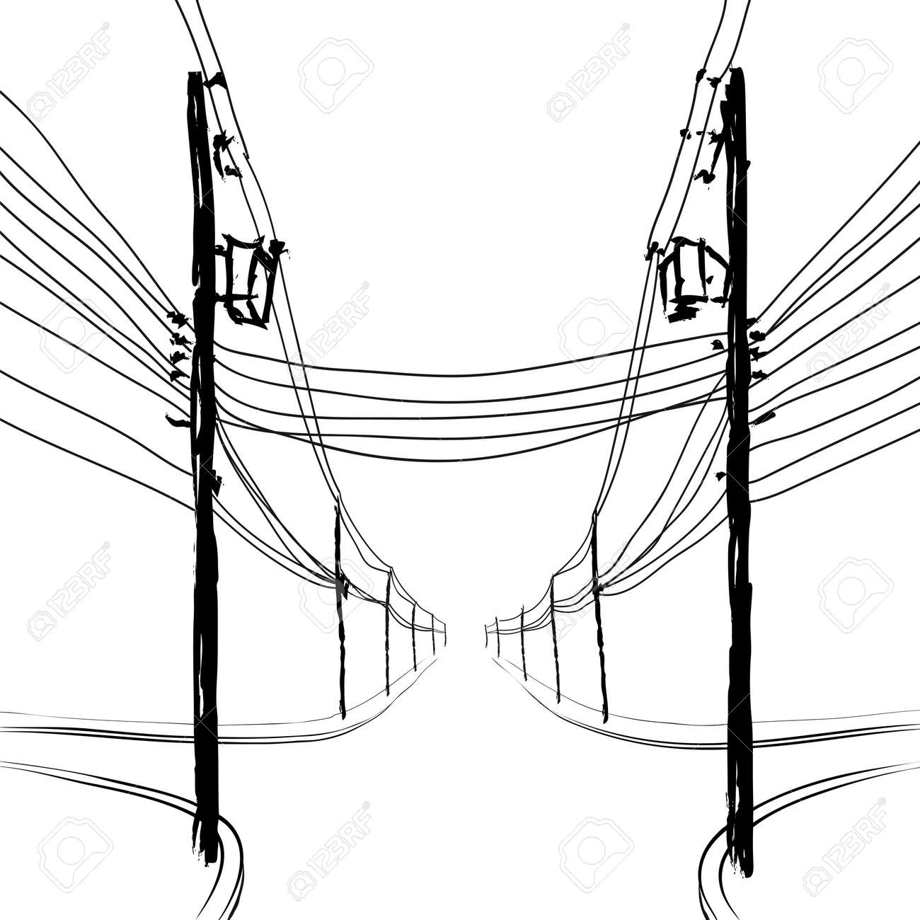 electricity pole : poles with