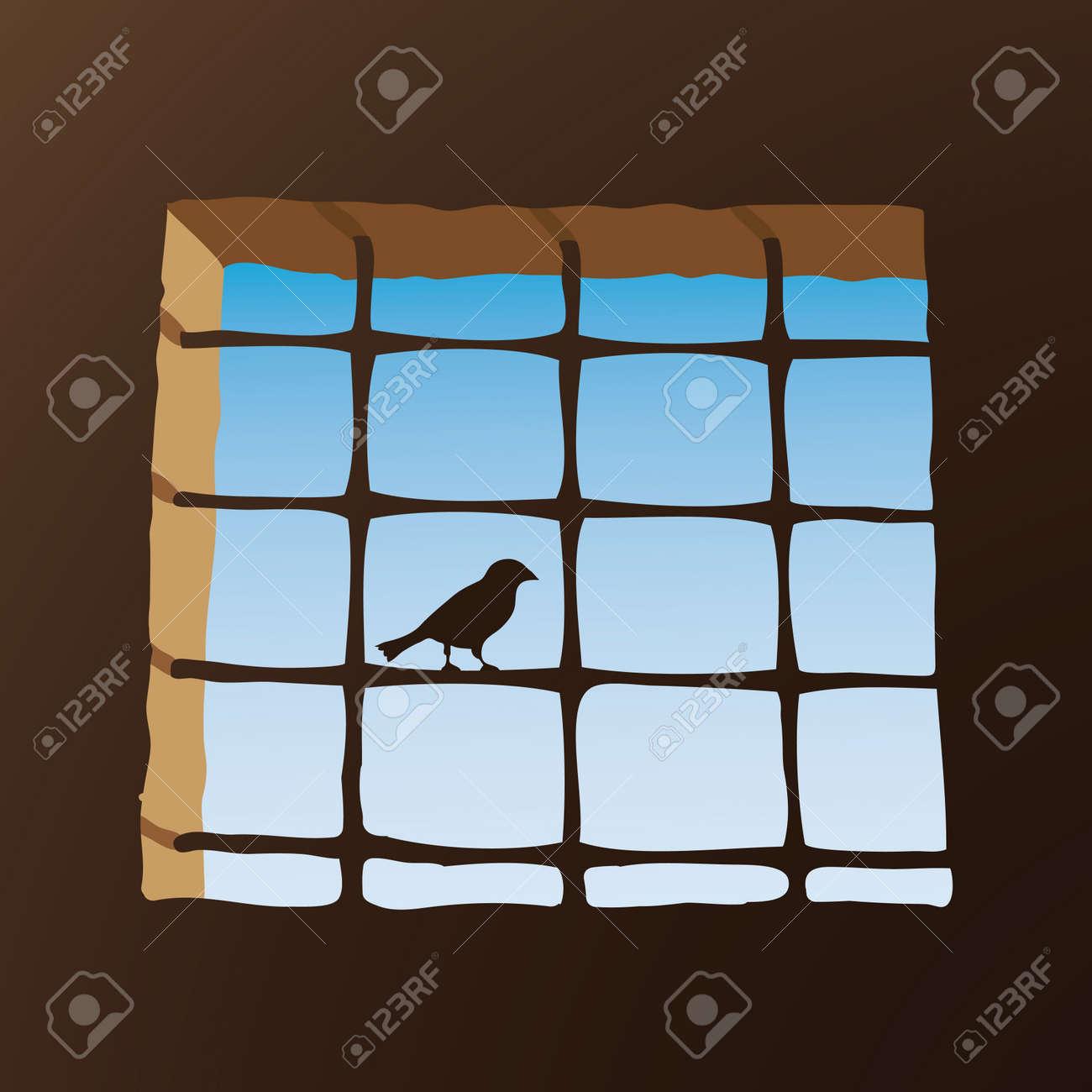 Prison window Stock Vector - 10725934