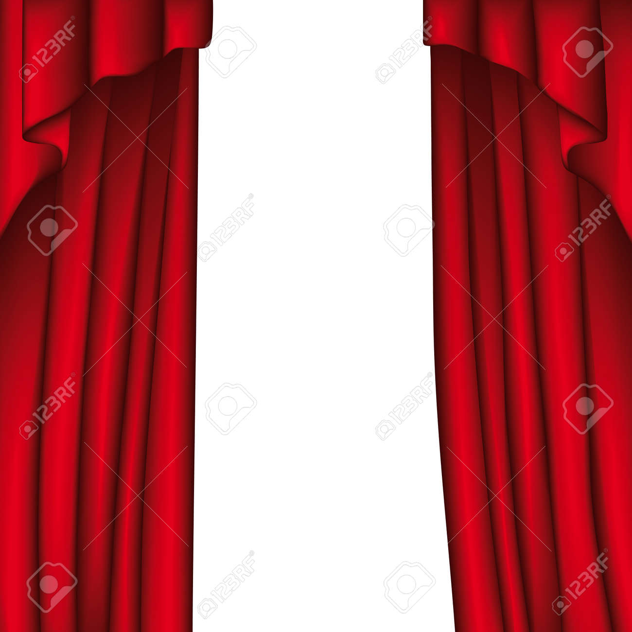 Bl blue stage curtains background - Curtain Stock Vector 10736958