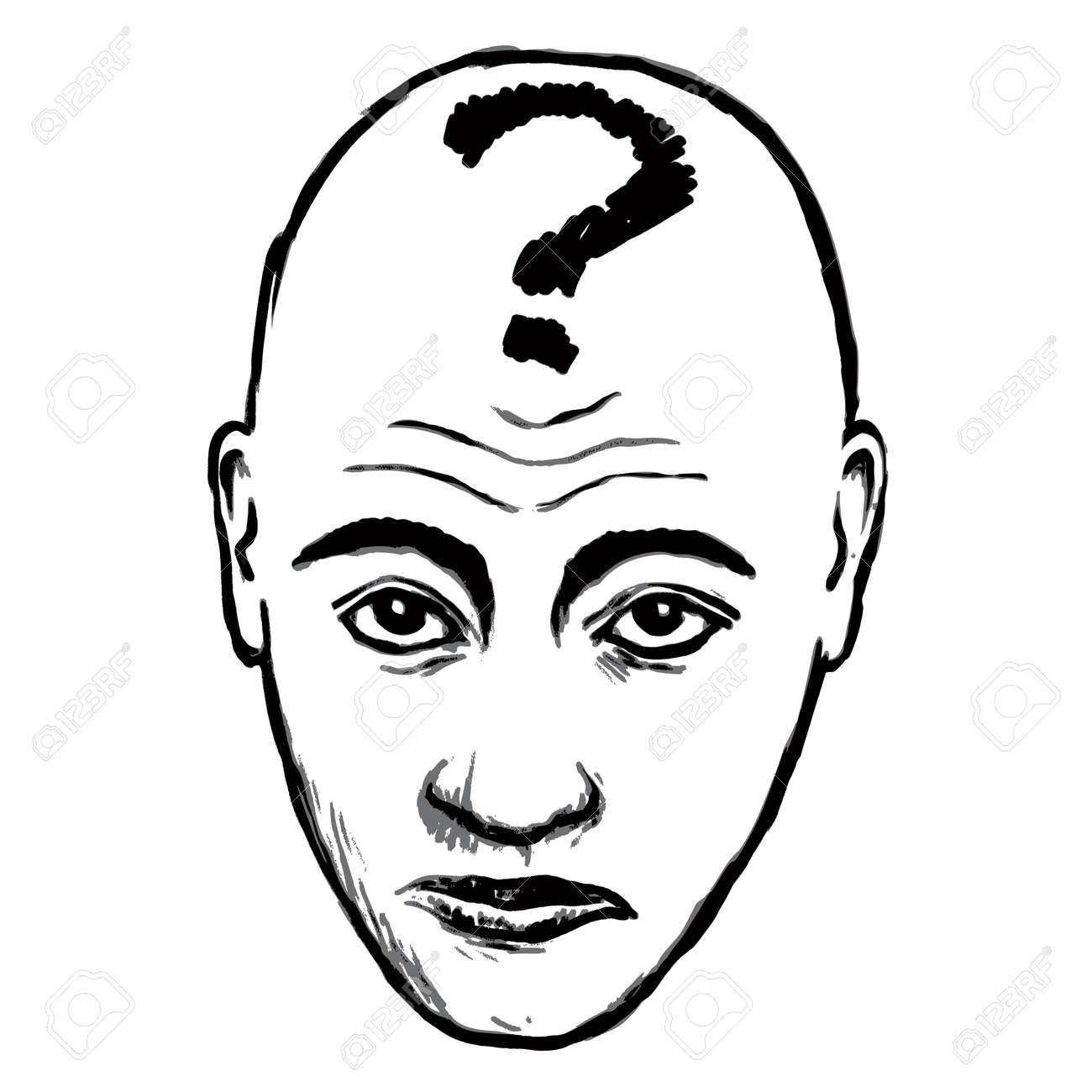 face questioning Stock Vector - 10736769