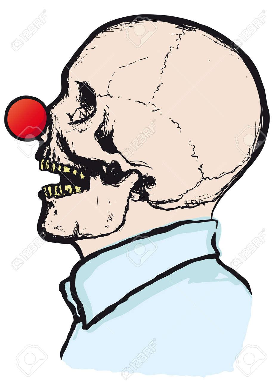 clown skull Stock Vector - 10736746