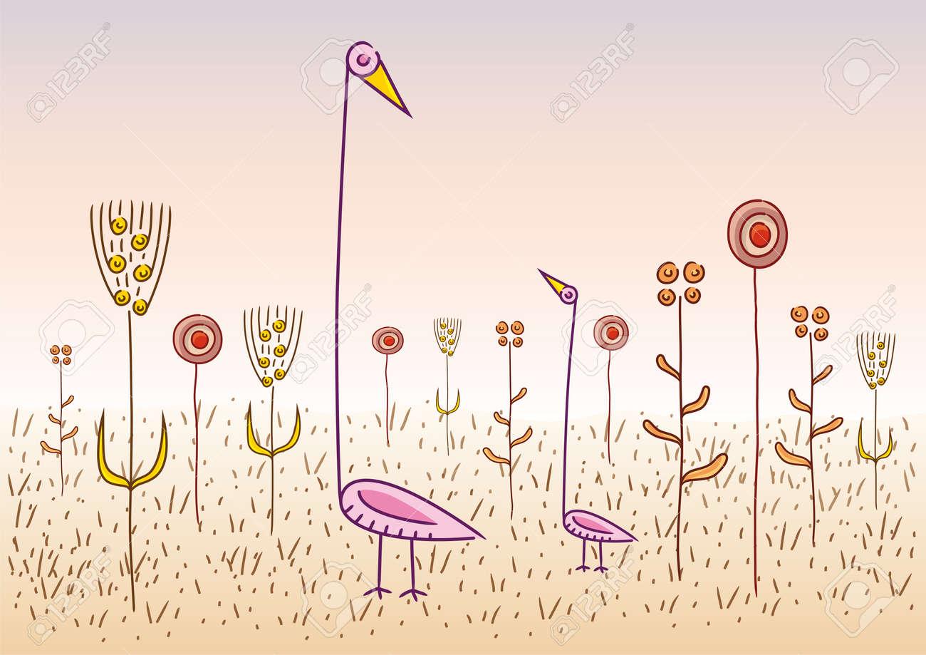 strange birds Stock Vector - 10737165