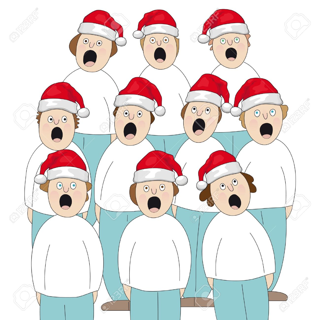 Choir Christmas Royalty Free Cliparts, Vectors, And Stock ...
