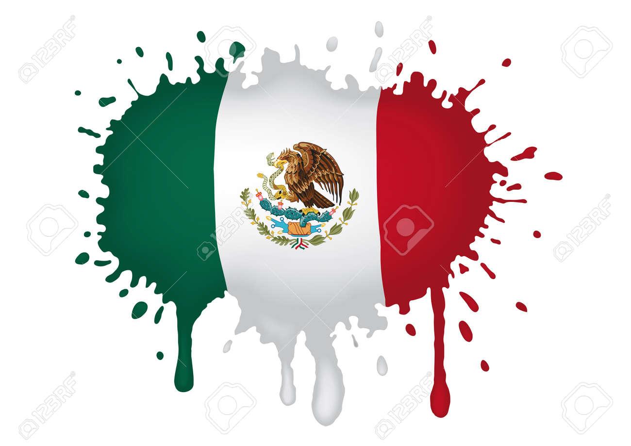sketch Mexican flag Stock Vector - 11655317