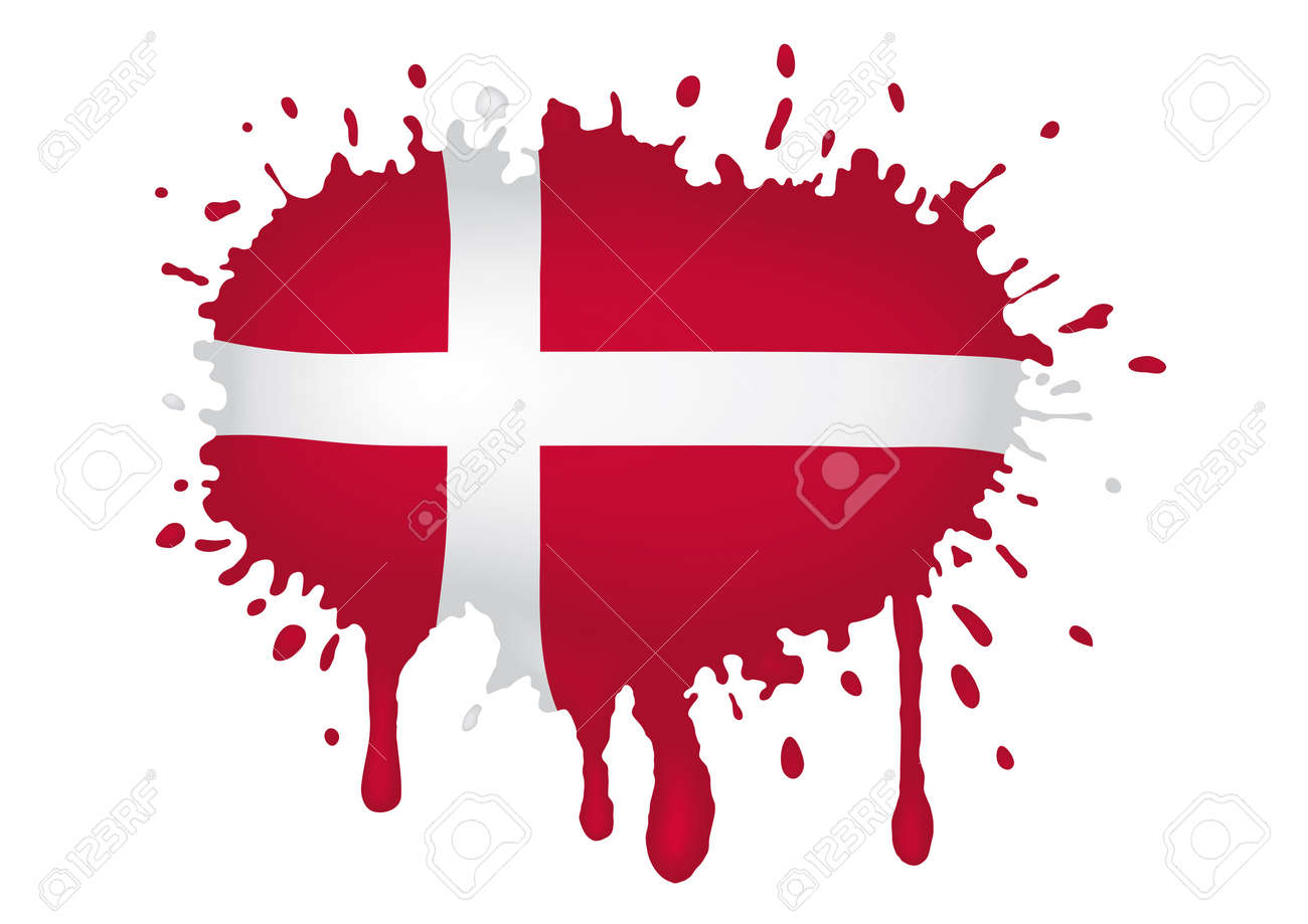 Denmark flag scketch Stock Vector - 11655322