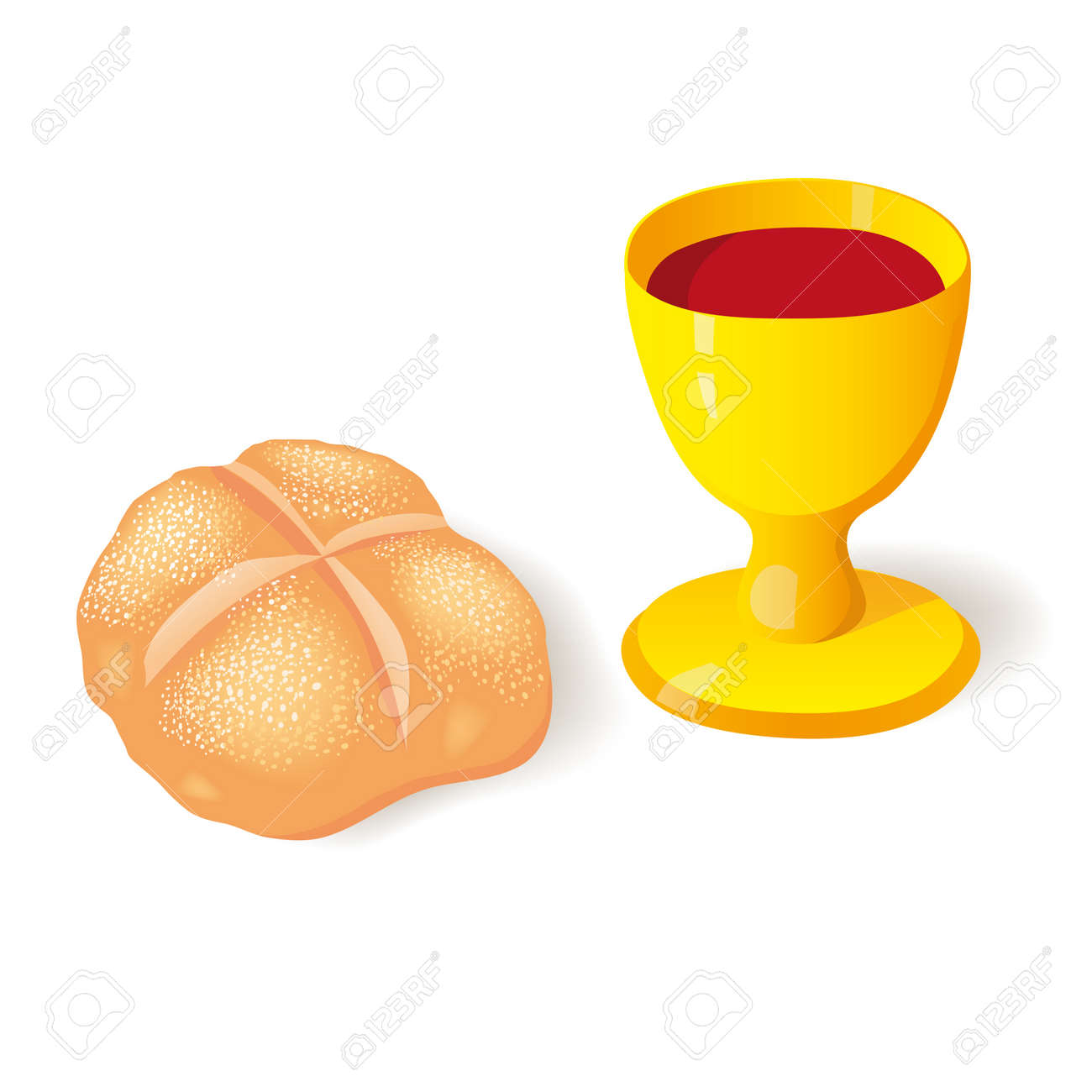 bread and cup Stock Vector - 15661122
