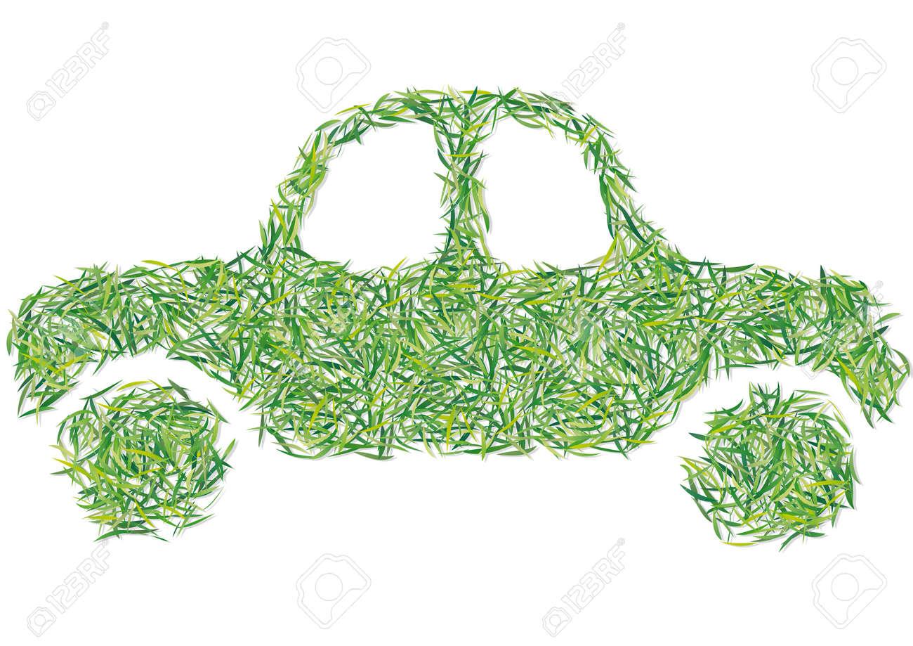 auto grass Stock Vector - 17346519