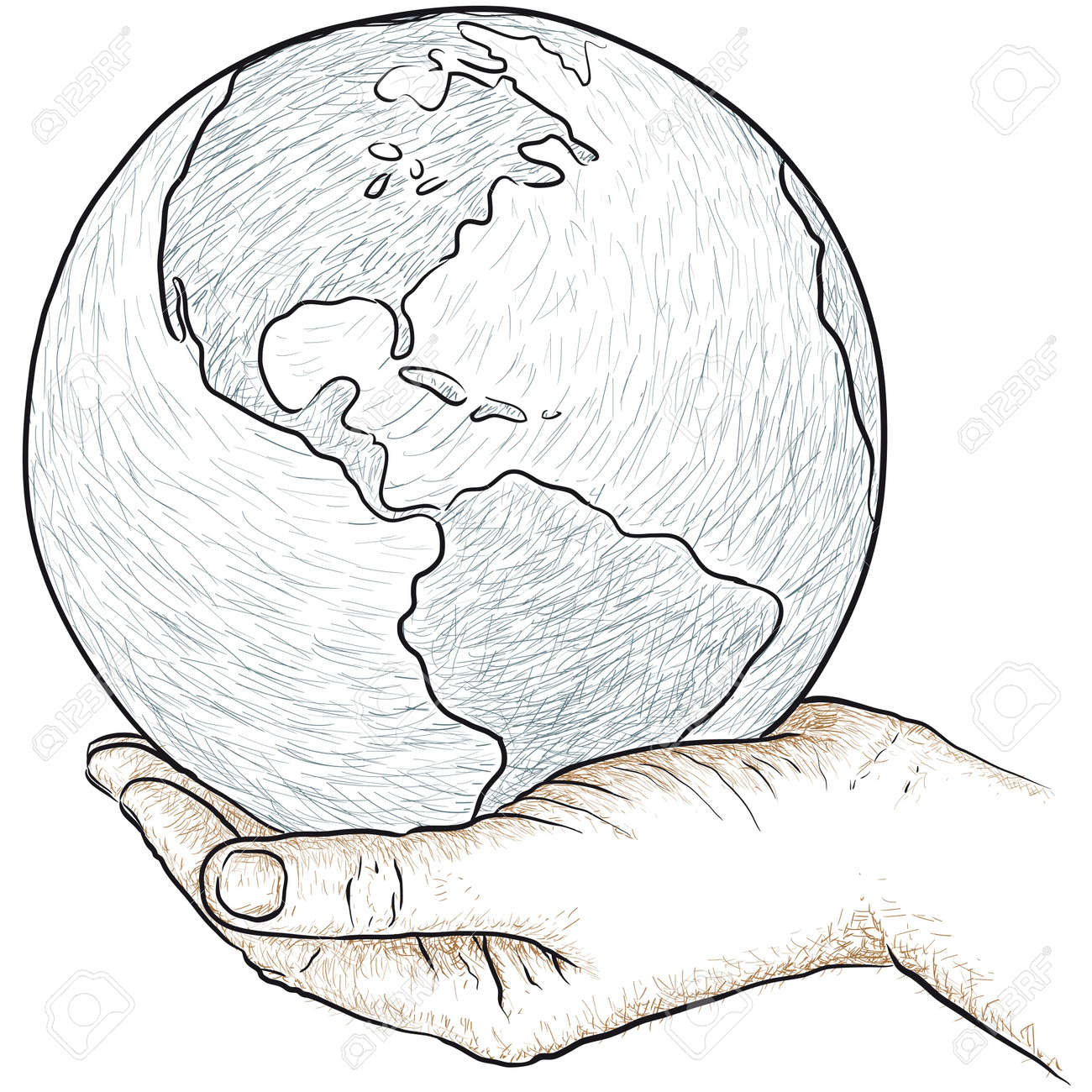 hand holding the world Stock Vector - 18369902