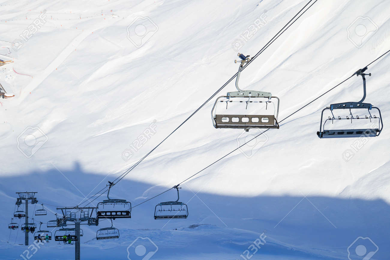 empty chair lift cable car empty chairlift and ski slope on sunny winter day stock photo 73577530 chairlift and ski slope on sunny winter day