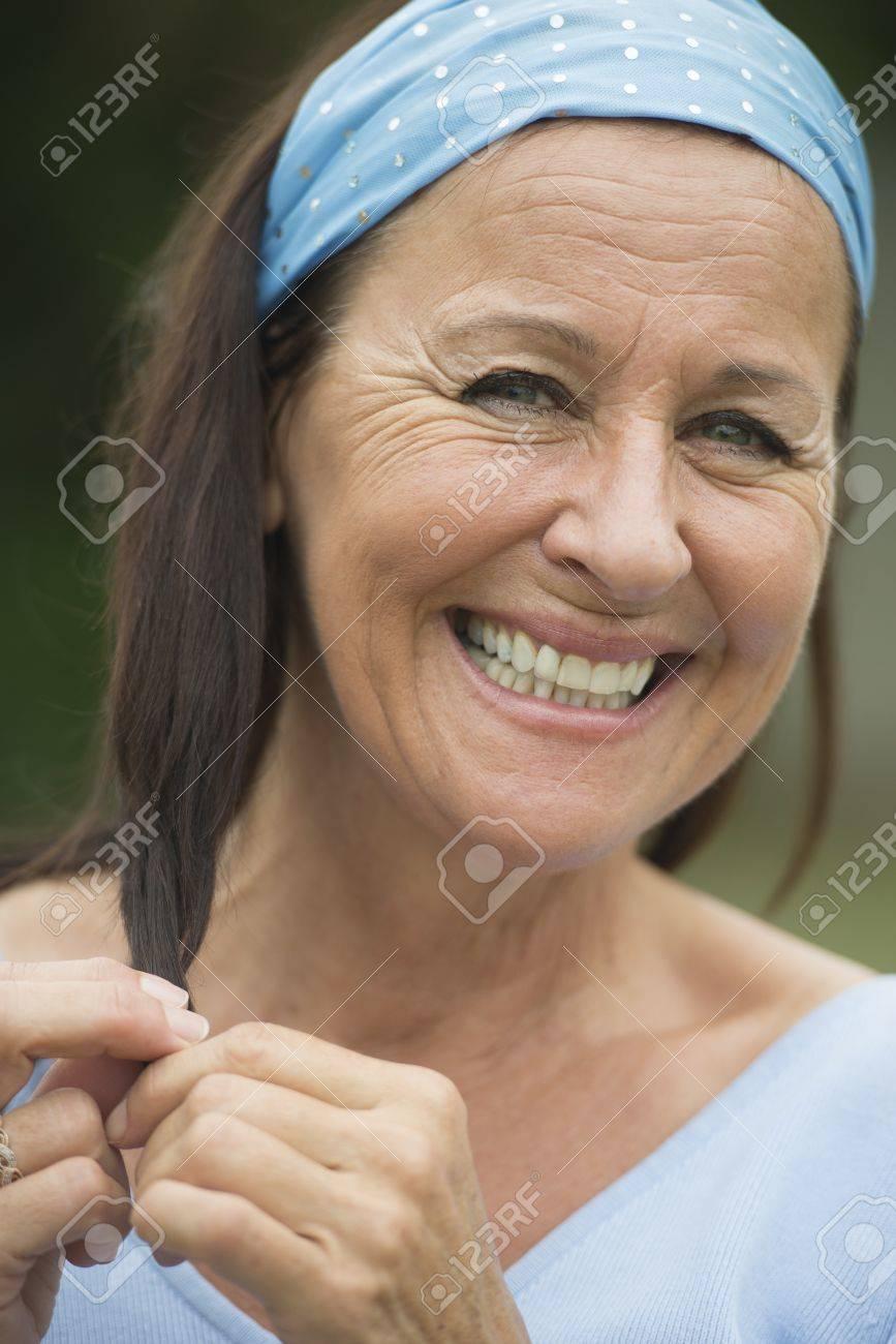 Mature outdoor facial