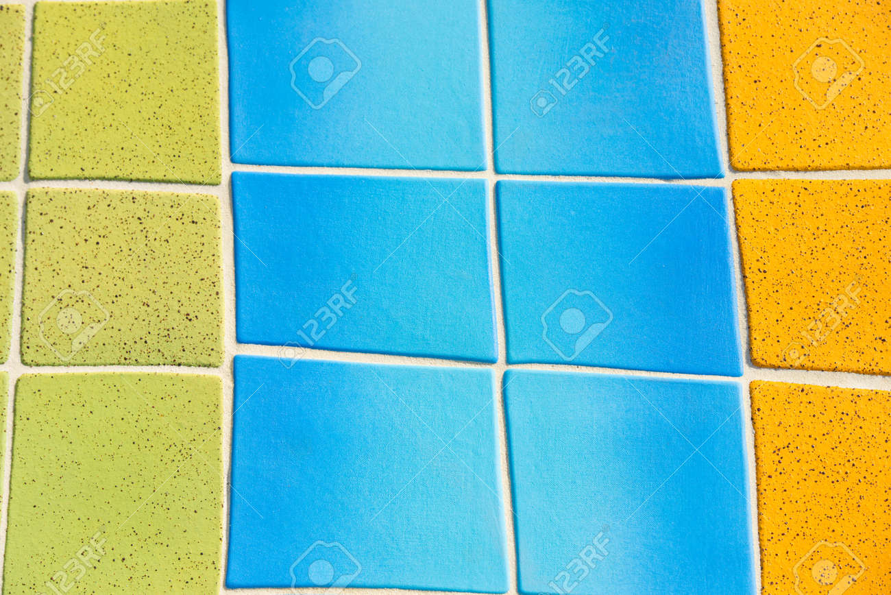 Beautiful Colored And Decorative Mosaic Of Curved Ceramic Tiles ...