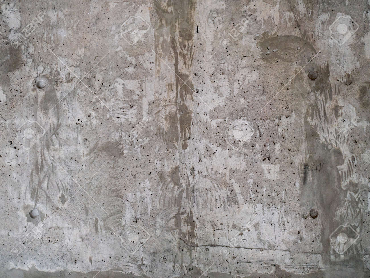 Texture Of Unfinished Concrete Wall With Rough Paint Surface Stock