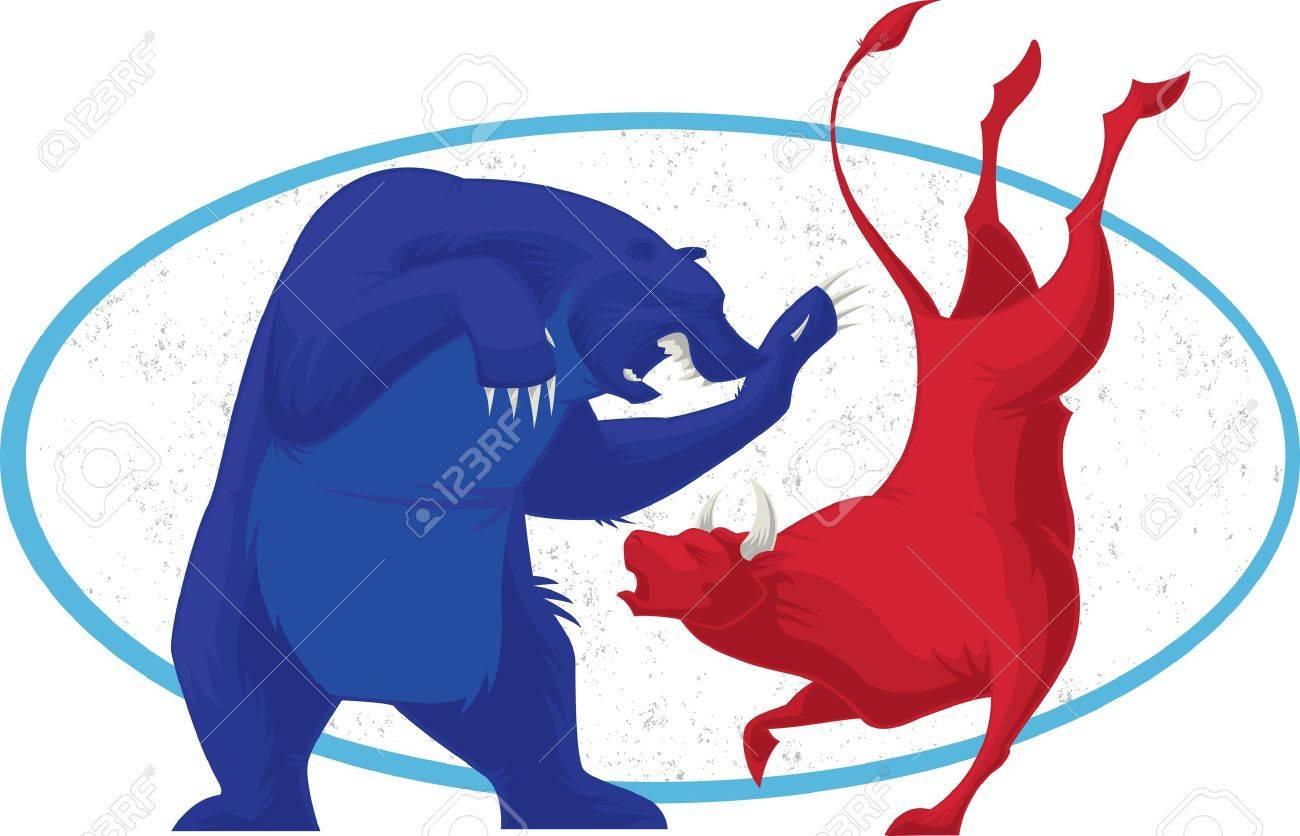 Bull and Bear - Stock Market Stock Photo - 3304466