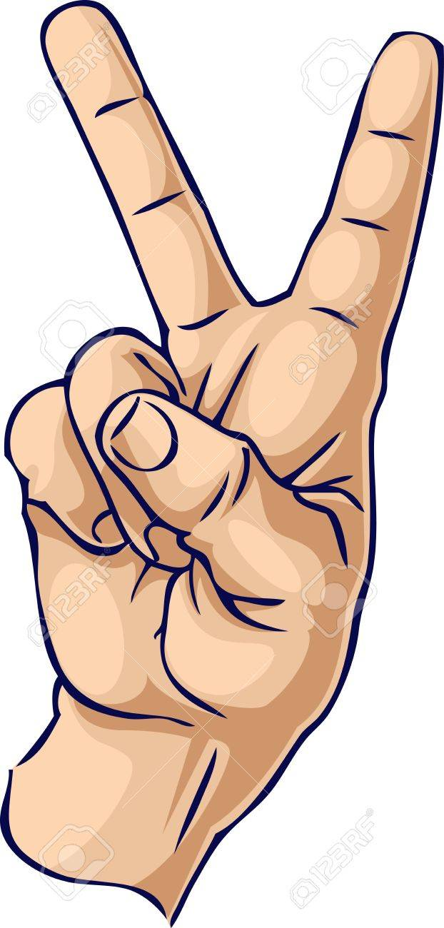 Victory/Cool hand gesture Stock Photo - 3413622