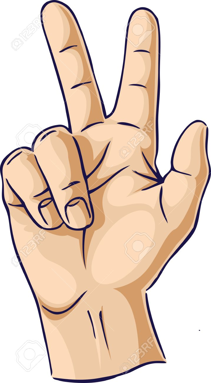 Hands Showing Two Finger Gesture Royalty Free Cliparts, Vectors ...