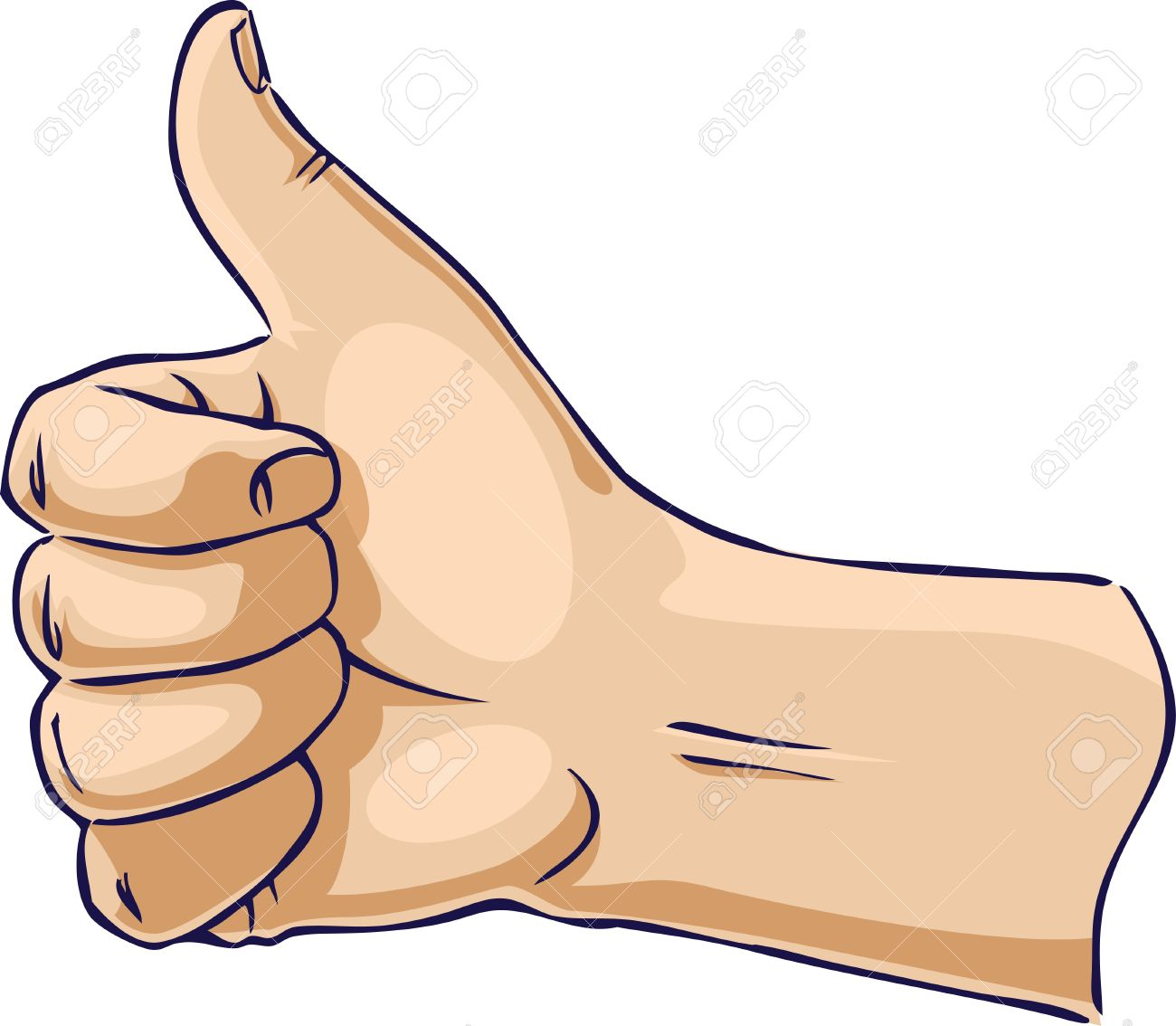 Hands showing thumb up from side Stock Vector - 10250969