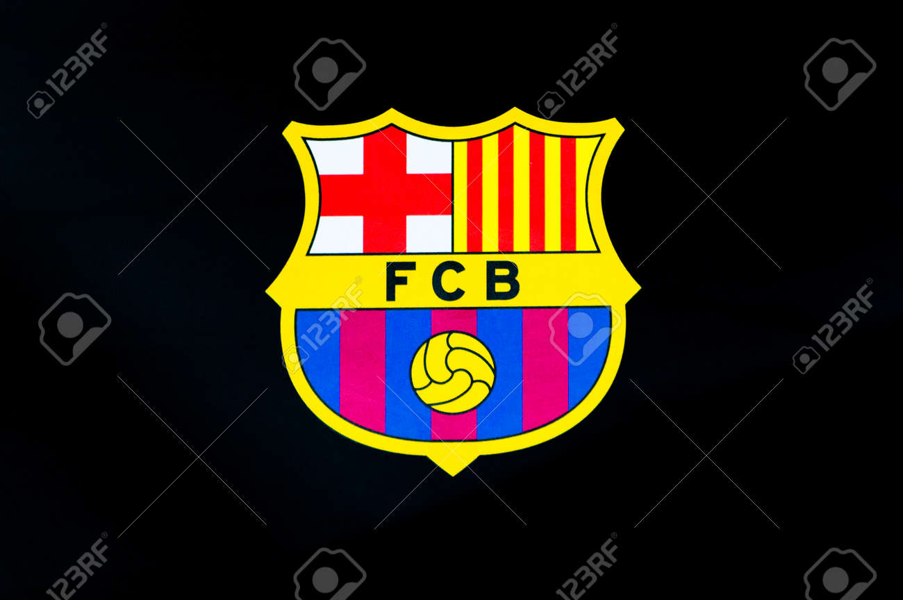barcelona spain june 7 2018 futbol club barcelona logo on stock photo picture and royalty free image image 119033466 barcelona spain june 7 2018 futbol club barcelona logo on