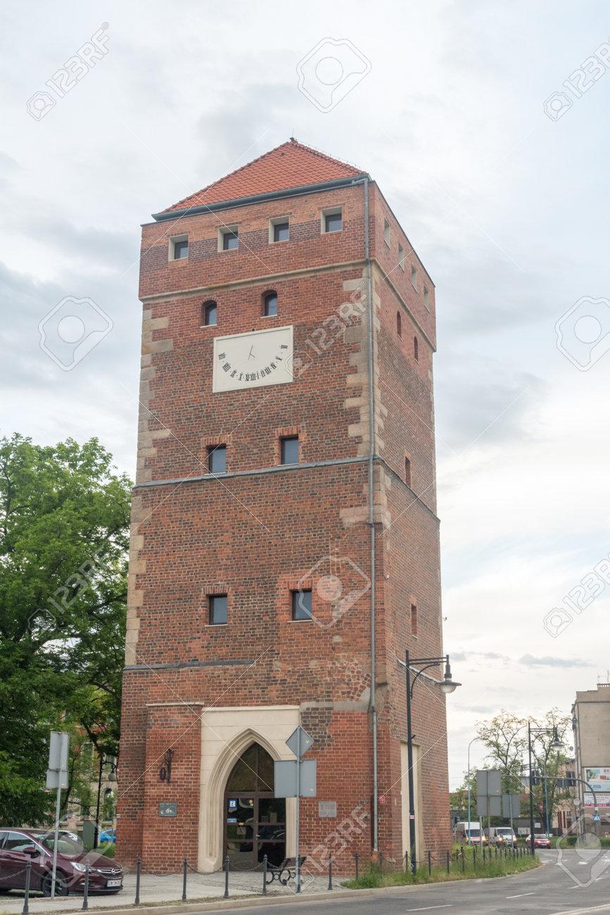 Legnica, Poland - June 1, 2021: Glogow Gate Tower. - 171697650