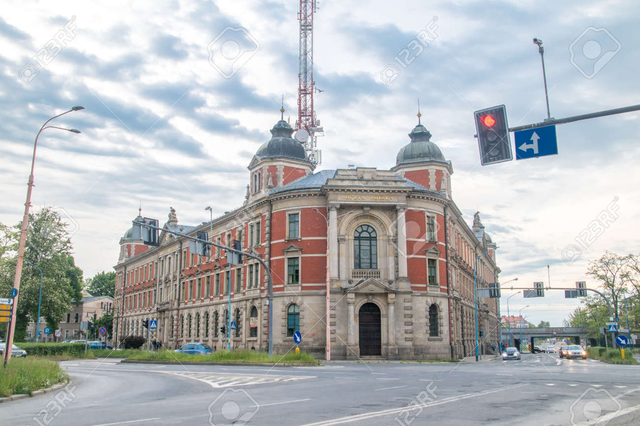 Legnica, Poland - June 1, 2021: Post office. - 171697637