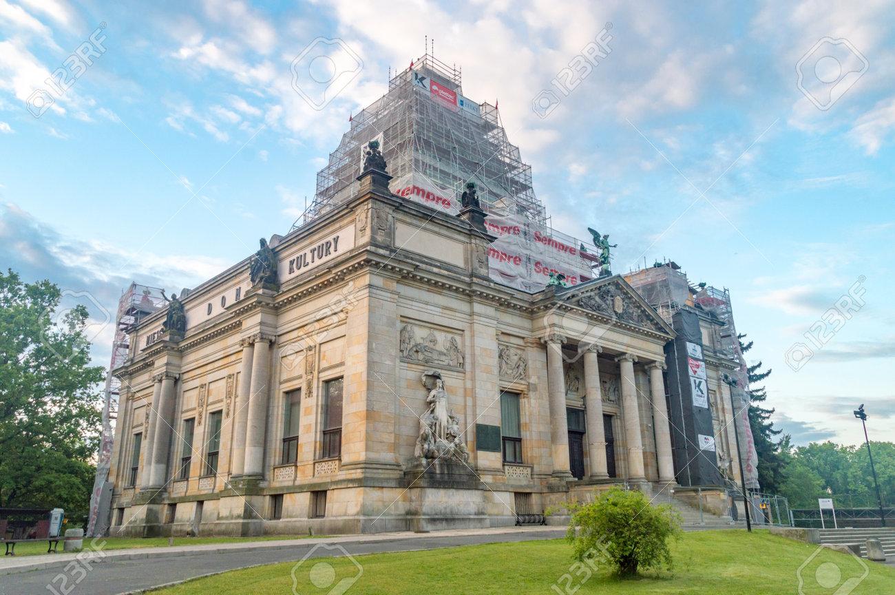 Zgorzelec, Poland - June 2, 2021: Municipal House of Culture in Zgorzelec. - 171808324