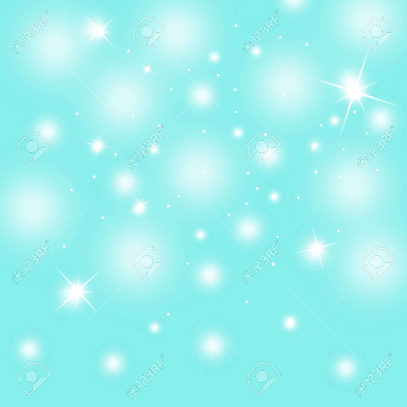 Couleur Avec Bleu Ciel abstrait flou doux couleur bleu ciel d'hiver; illustration de fond de noël  avec sparkle.