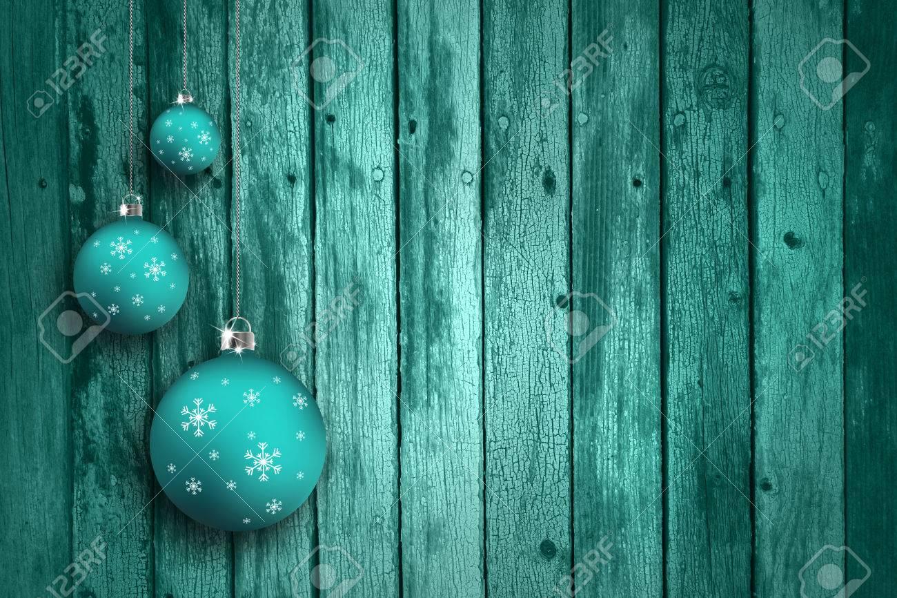 Immagini stock lampadine colorate turchese blu con fiocchi di neve
