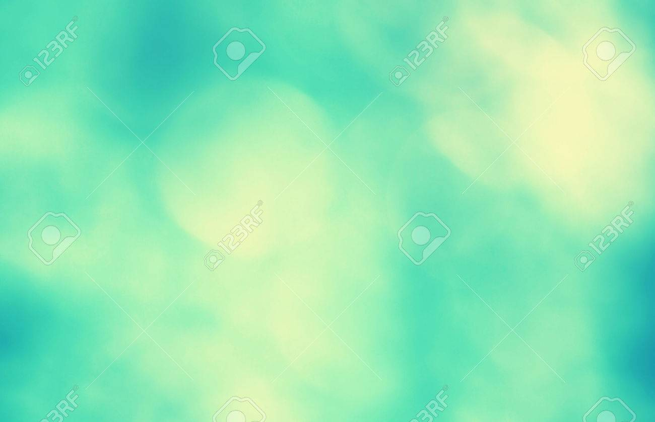 Vintage Blurred Bright Blue Green Azure Color Background Filter Effect Used Stock Photo