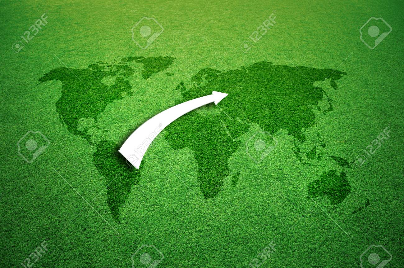 Soccer game background with grass textured world map and illustrated soccer game background with grass textured world map and illustrated flag pattern arrow stock photo gumiabroncs Gallery