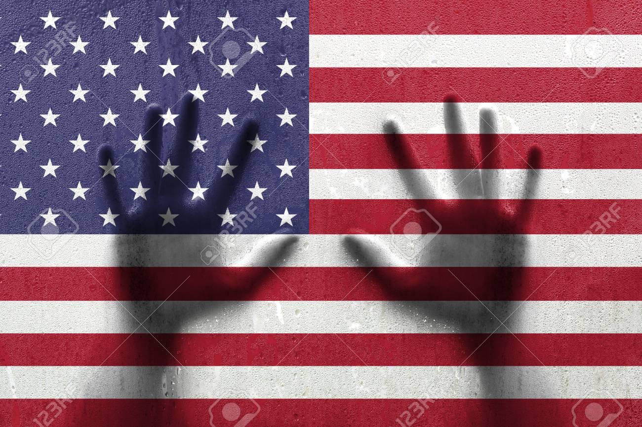Dorable Bandera Americana Patrón Afghan Crochet Cresta - Manta de ...