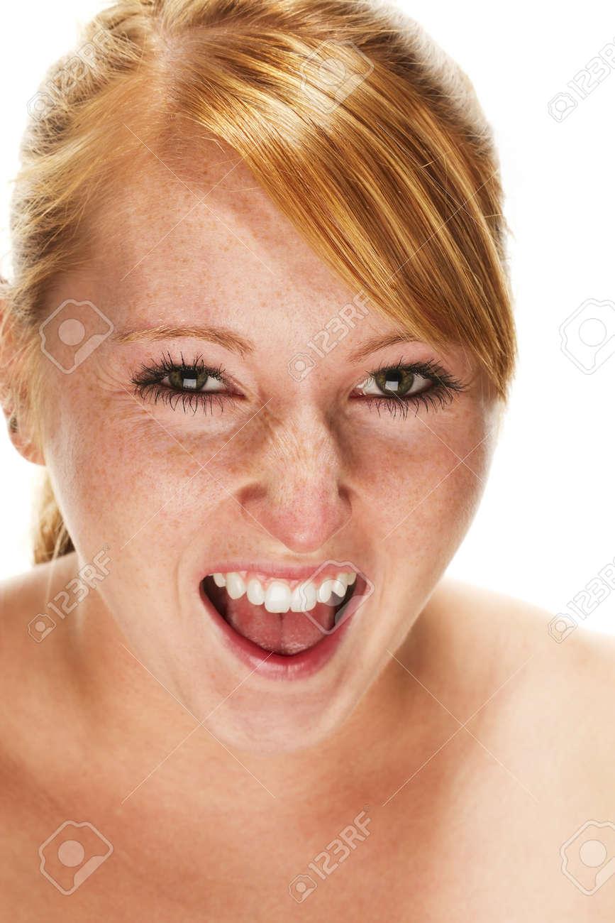 Русская женщина кричит 5 фотография