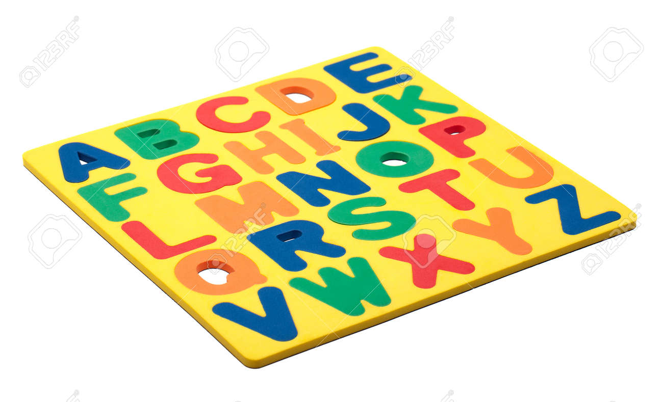 a copy of the alphabet made out of foam magnetic letters stock photo 12508006