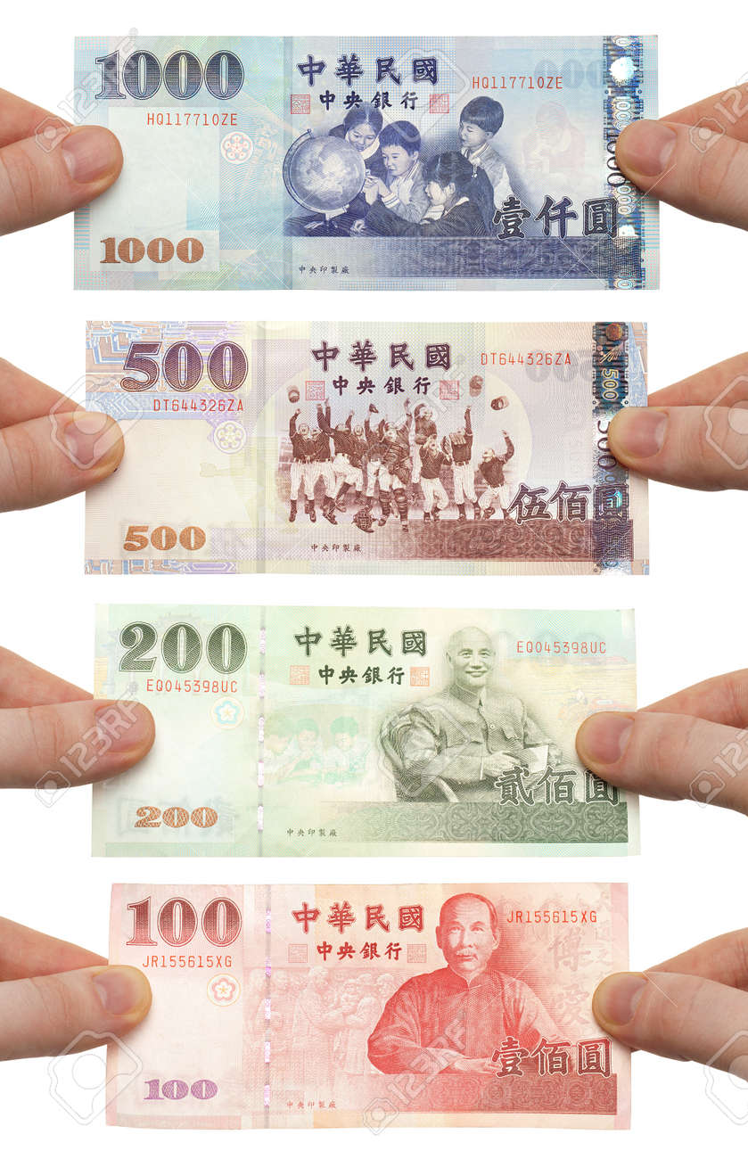 worksheet 200 Dollar Bill hands holding out 100 200 500 and 1000 new taiwan dollar bills stock