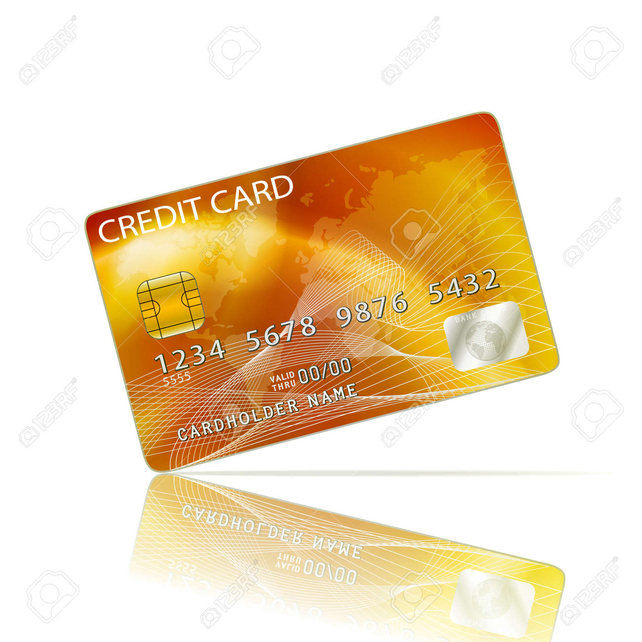 Credit Card Icon Isolated on White Stock Vector - 25213684