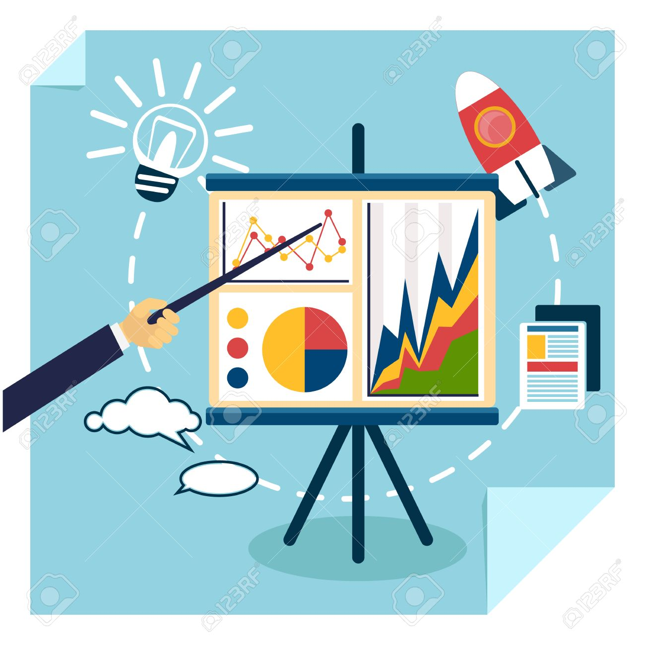 flat design of presentation business development concept from rh 123rf com free clipart images for business presentations free clipart images for business presentations