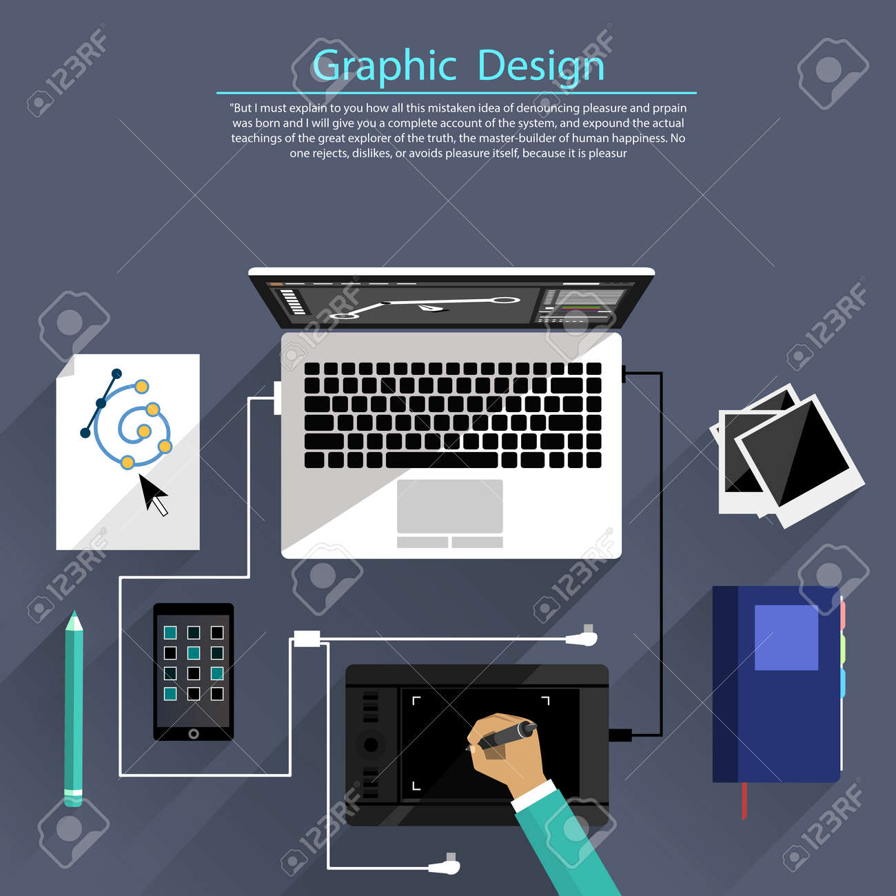Concept For Graphic Design Designer Tools And Software In Flat Royalty Free Cliparts Vectors And Stock Illustration Image 34811281