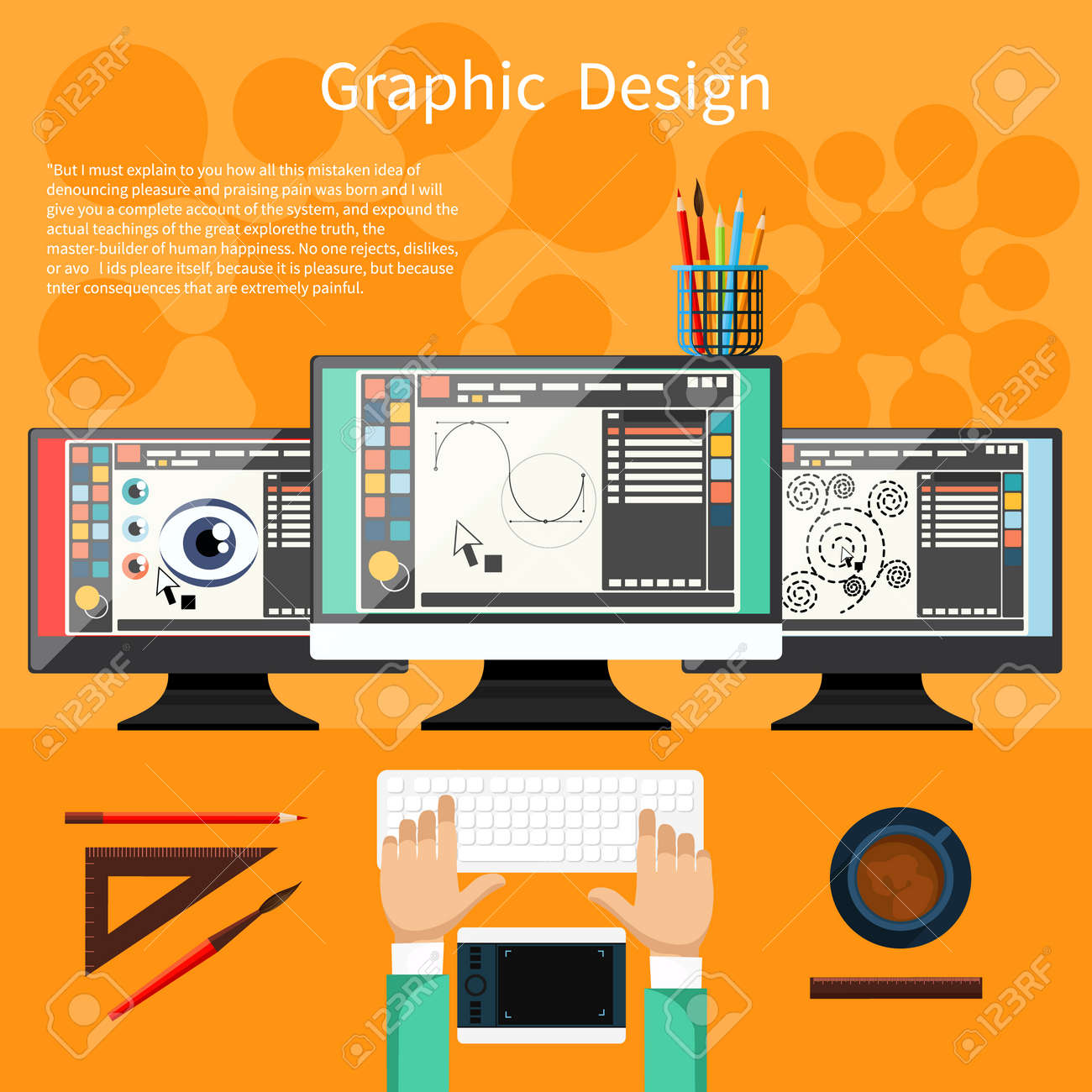Concept For Graphic Design Designer Tools And Software In Flat Royalty Free Cliparts Vectors And Stock Illustration Image 38419629